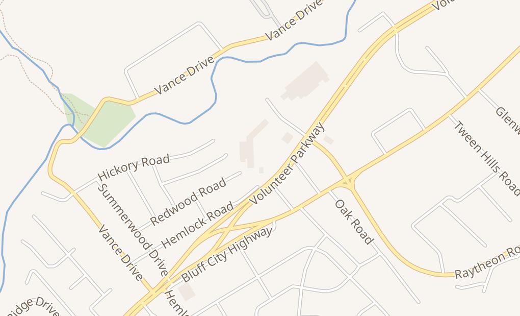 map of 1430 Volunteer Pkwy Ste 30Bristol, TN 37620