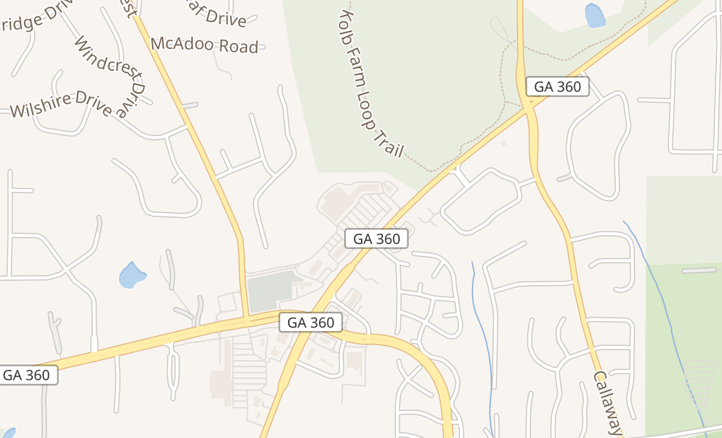 map of 1690 Powder Springs Rd SWMarietta, GA 30064