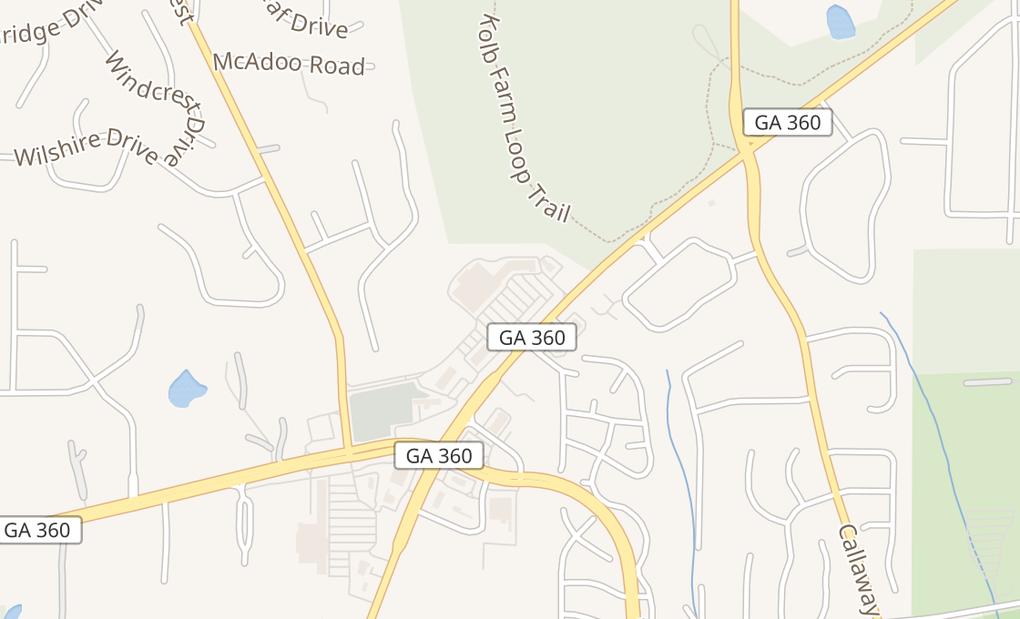 map of 1690 Powder Springs Rd SWMarietta, GA 30064