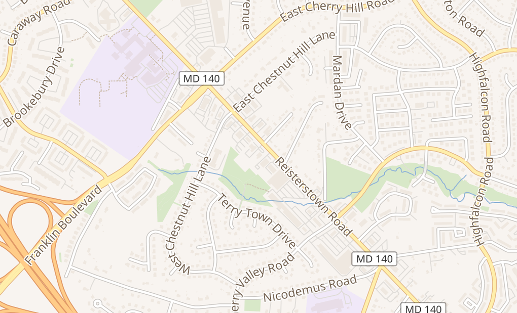 map of 11722 Reisterstown RdReisterstown, MD 21136-3302