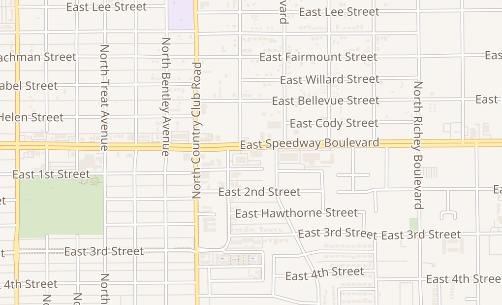 map of 3232 E Speedway BlvdTucson, AZ 85716