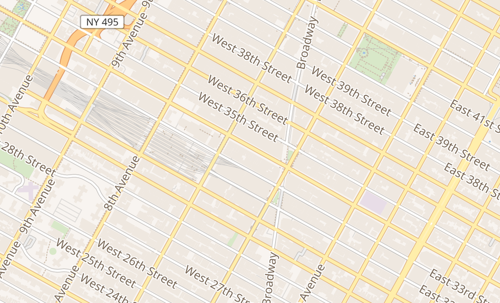 map of 138 W 34Th StNew York, NY 10001