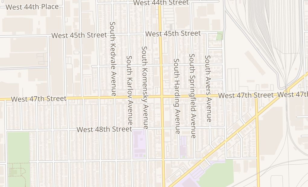 map of 4654 S Pulaski RdChicago, IL 60632