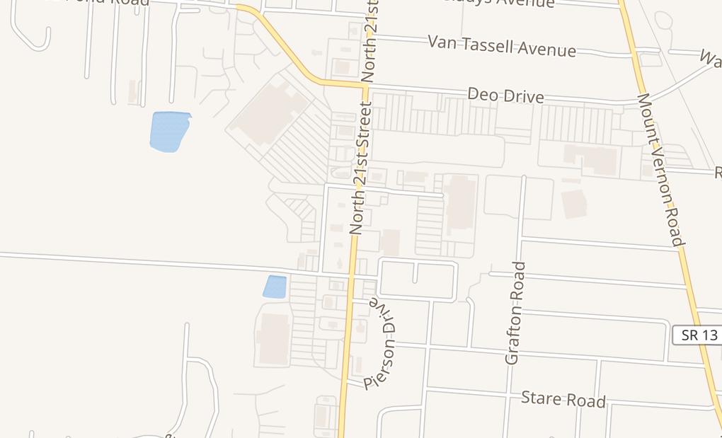 map of 1294 N 21St StNewark, OH 43055