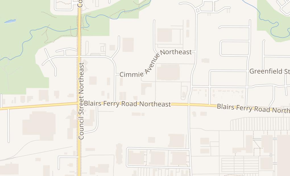 map of 1100 Blairs Ferry Rd NE Ste 114Cedar Rapids, IA 52402