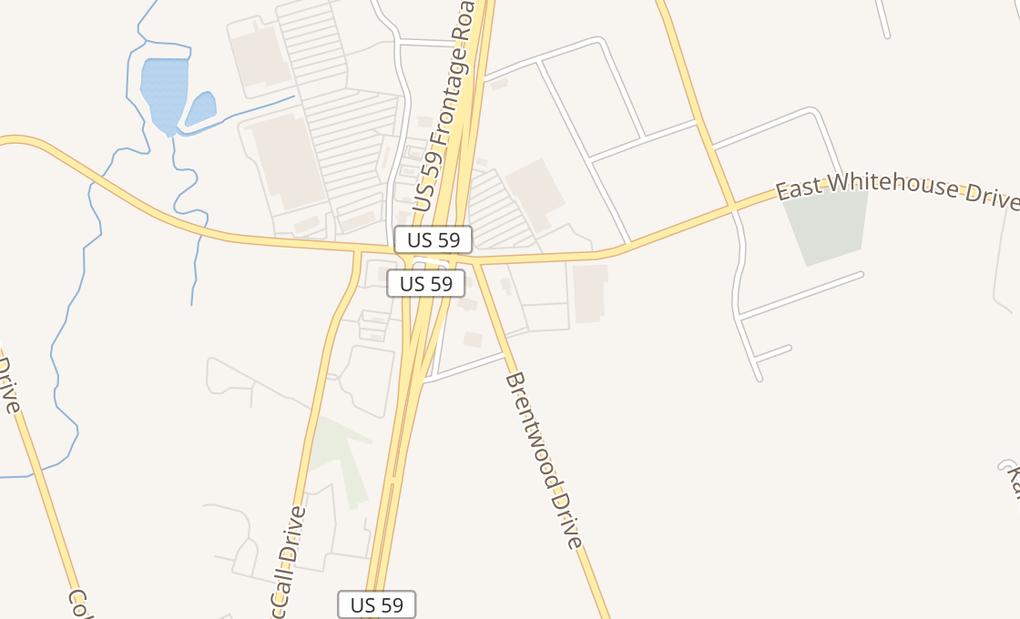 map of 2906 Brentwood Dr Ste 200Lufkin, TX 75901