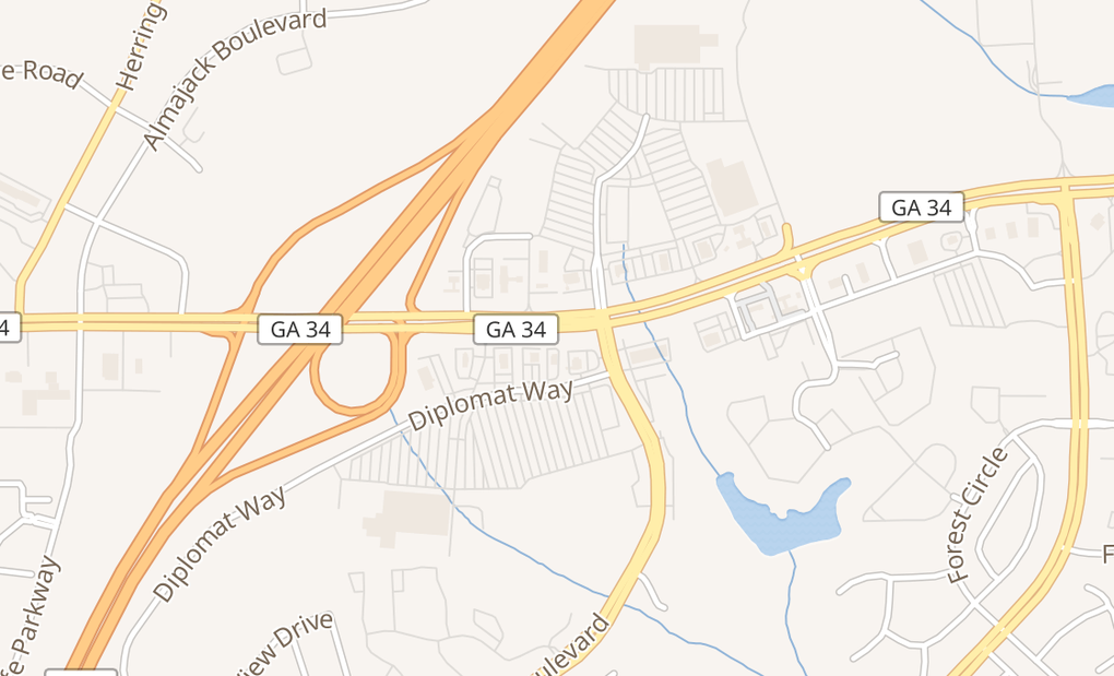 map of 1111 Highway 34 E Ste 10Newnan, GA 30265