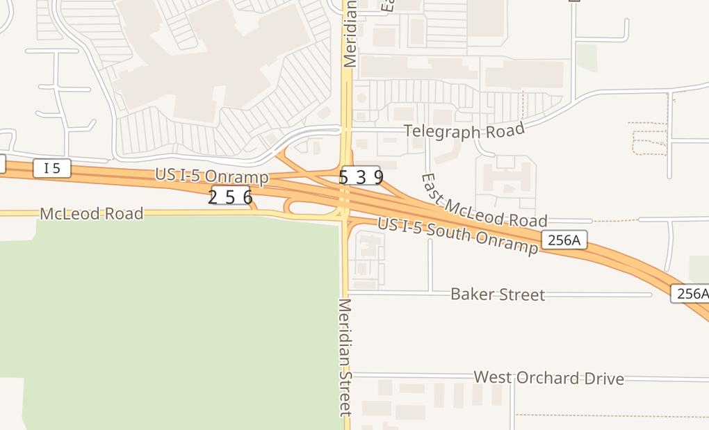 map of 3908 Meridian St Ste 110Bellingham, WA 98226