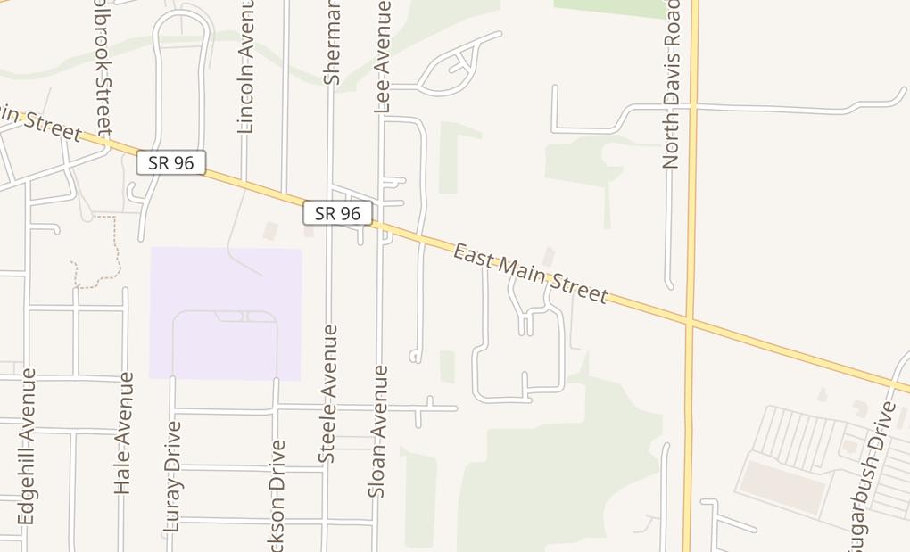 map of 1984 E Main StAshland, OH 44805
