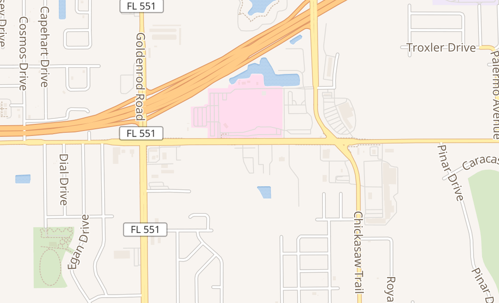 map of 7790 Lake Underhill Rd Ste 103Orlando, FL 32822