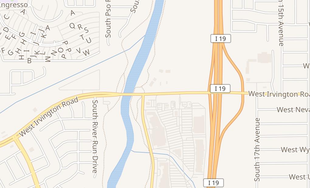 map of 1226 W Irvington Rd Ste 190Tucson, AZ 85714