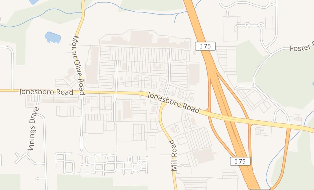 map of 1816 Jonesboro RdMcDonough, GA 30253