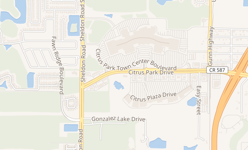 map of 8506 Citrus Park Dr Ste 300Tampa, FL 33625