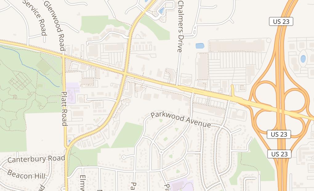 map of 3354 Washtenaw AveAnn Arbor, MI 48104