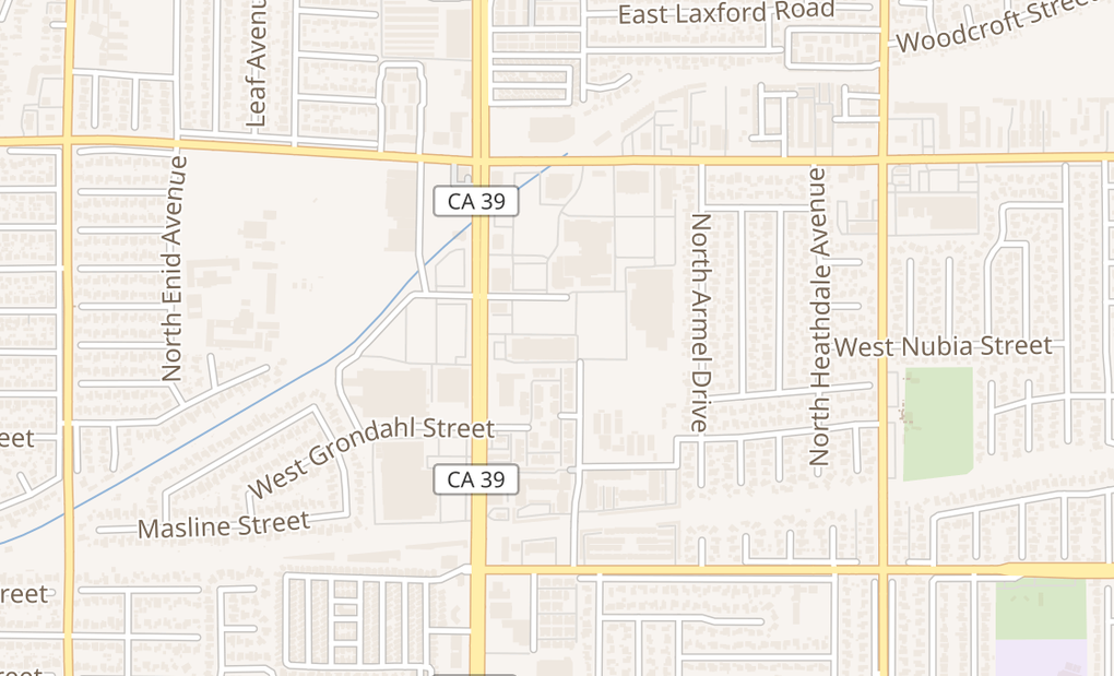 map of 1316 N Azusa Ave Ste BCovina, CA 91722