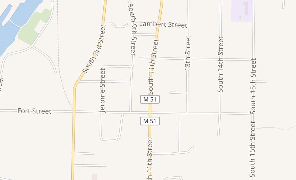 map of 1260 S 11Th St Ste BNiles, MI 49120