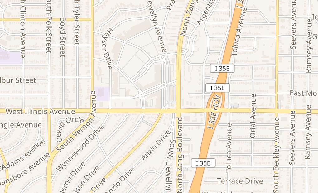 map of 655 W Illinois Ave Ste 1000Dallas, TX 75224