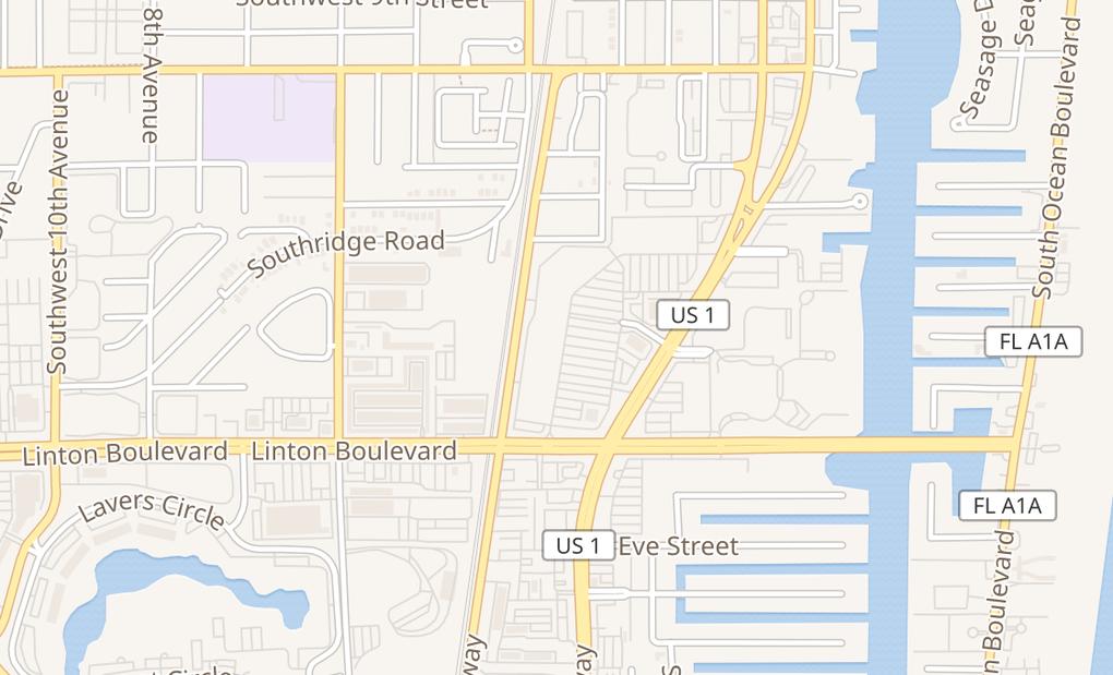 map of 1652 S Federal HwyDelray Beach, FL 33483