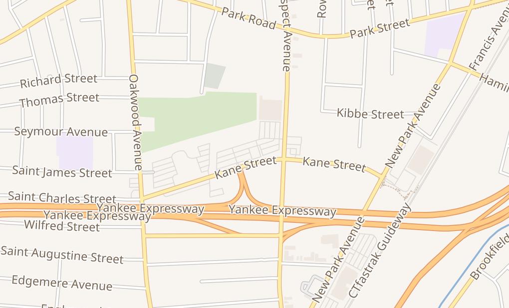 map of 18 Kane StWest Hartford, CT 06119