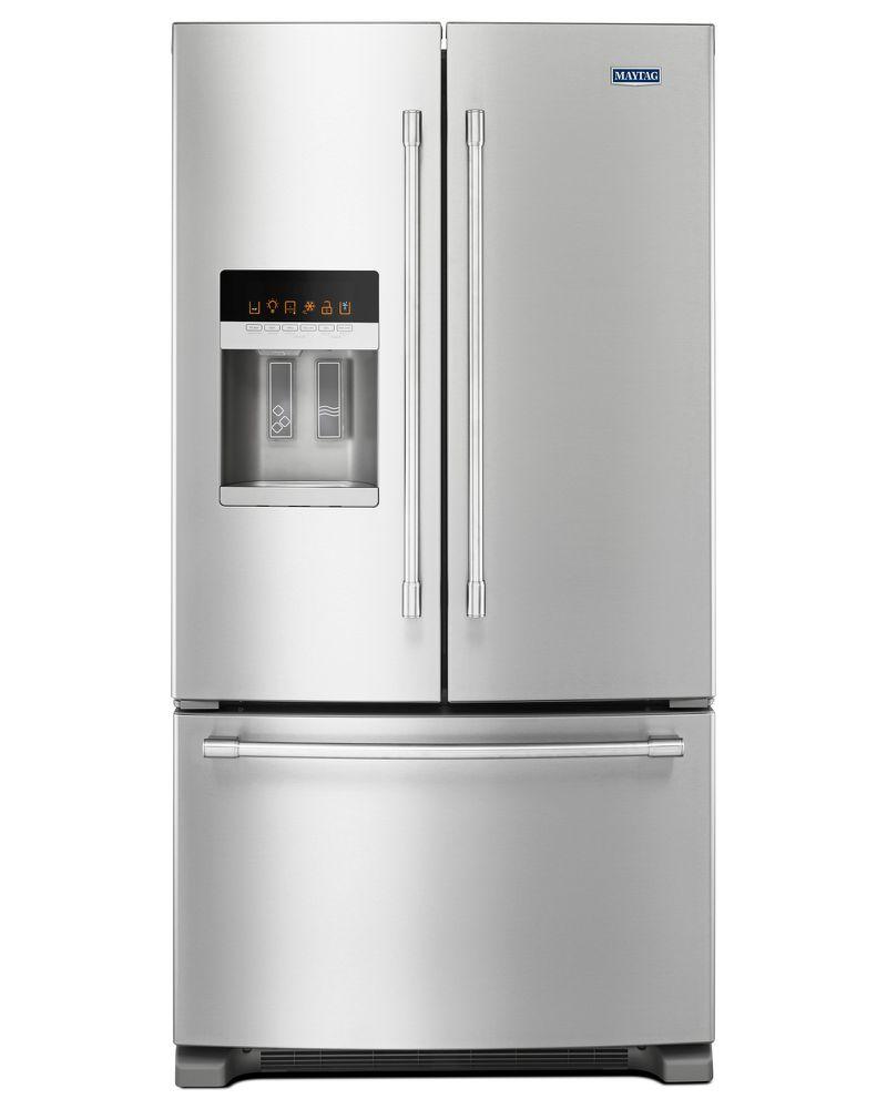 Maytag Mfi2570fez 25 Cu Ft 36 Wide French Door Refrigerator W
