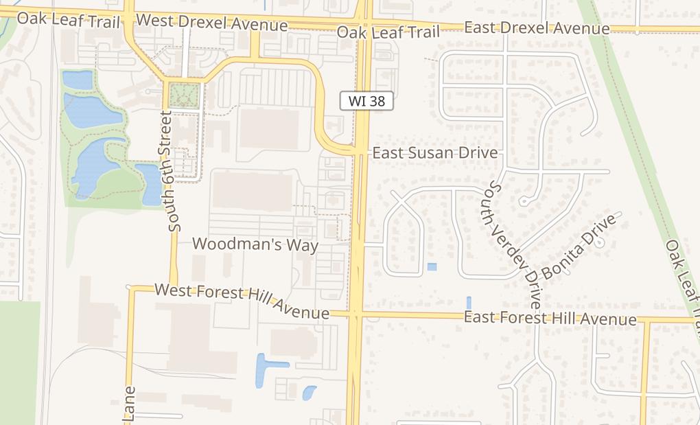 map of 8171 S Howell Ave Ste 200Oak Creek, WI 53154