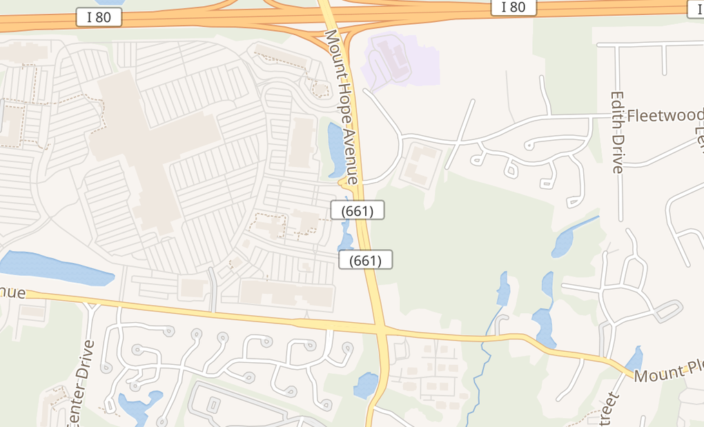 map of 321 Mount Hope Ave Ste BRockaway, NJ 07866