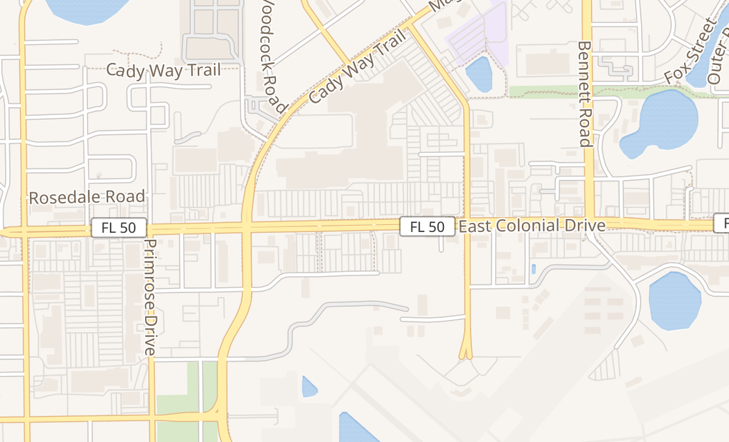 map of 3201 E Colonial Dr Unit C16Orlando, FL 32803