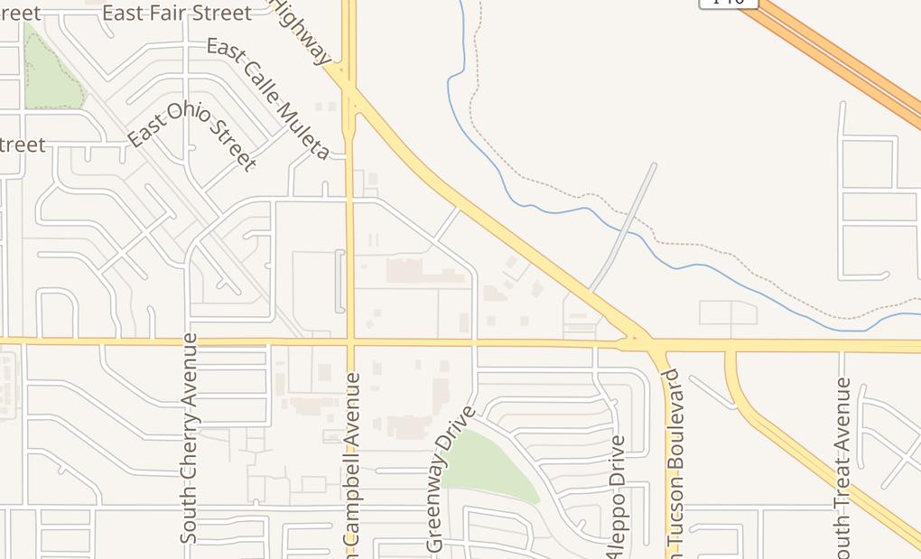 map of 2071 E Irvington RdTucson, AZ 85714