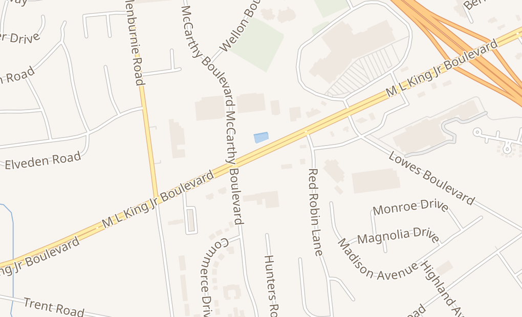 map of 3343 Dr M L King Jr BlvdNew Bern, NC 28562
