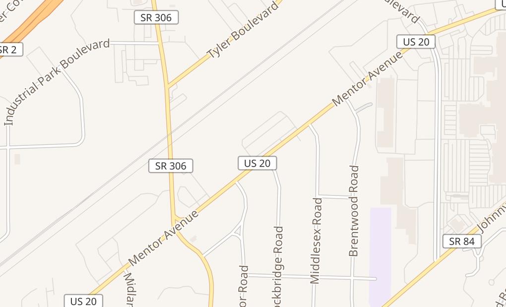map of 7501 Mentor AveMentor, OH 44060