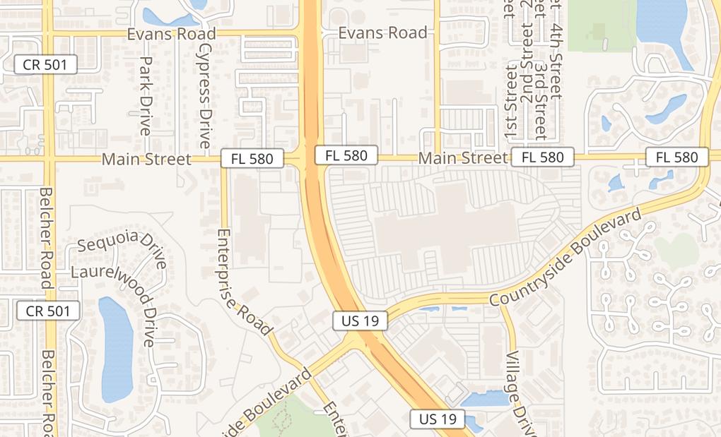map of 27001 US Highway 19 N Ste 1051Clearwater, FL 33761