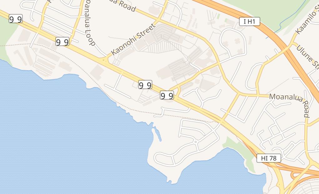 map of 98-199 Kamehameha Hwy B4Aiea, HI 96701
