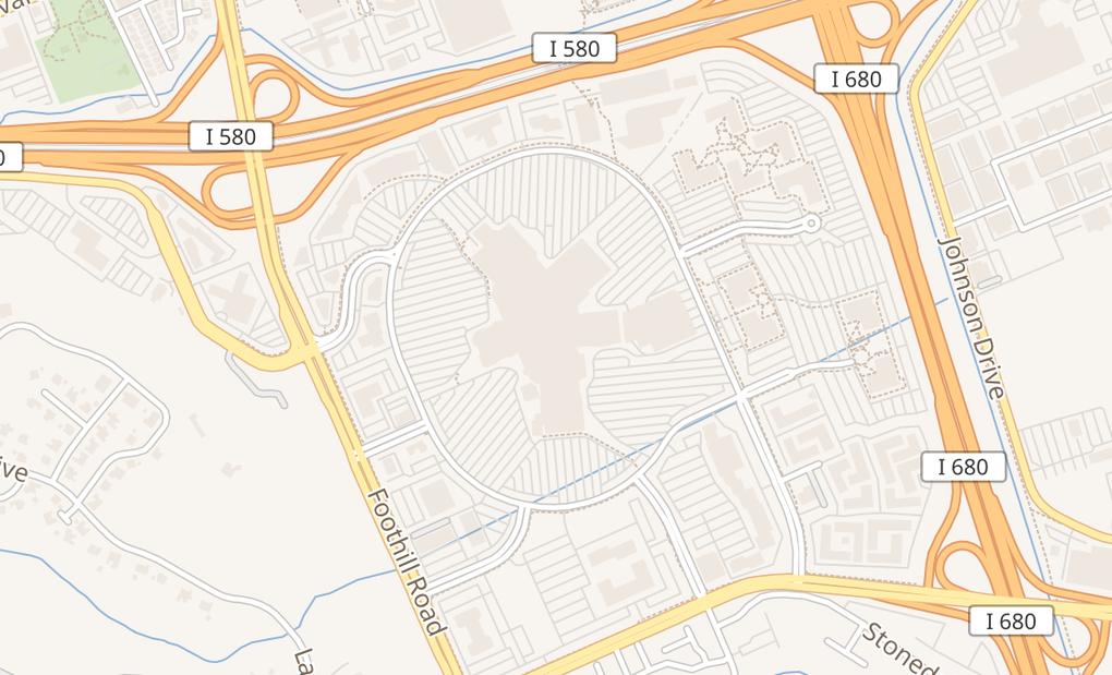 map of 1 Stoneridge Mall Rd Ste E103Pleasanton, CA 94588