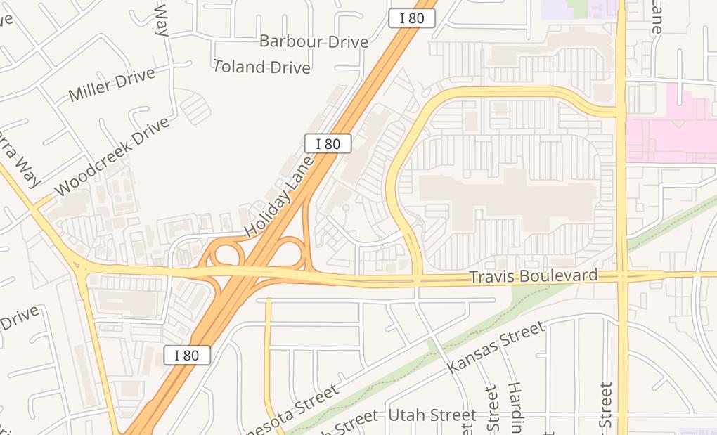 map of 1630 Gateway Blvd Ste DFairfield, CA 94533