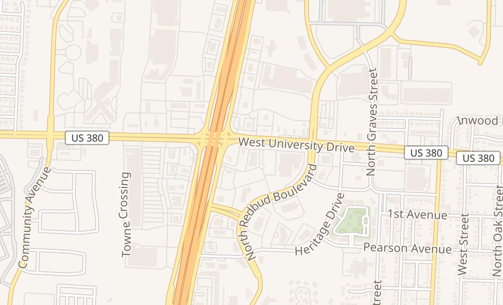 map of 1717 W University Dr Ste 418Mckinney, TX 75069