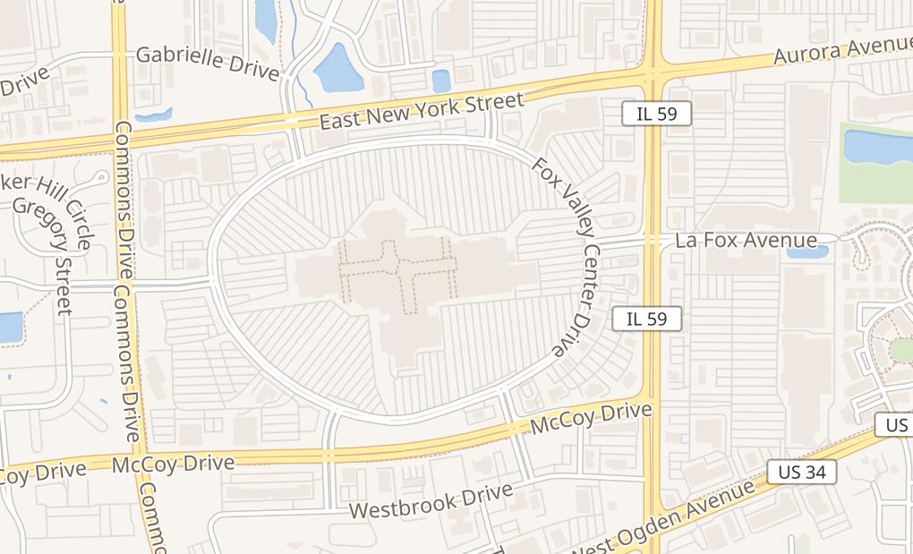 map of 195 Fox Valley Ctr Spc 9014Aurora, IL 60504