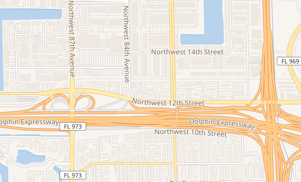 map of 11401 Nw 12Th St Ste 110AMiami, FL 33172