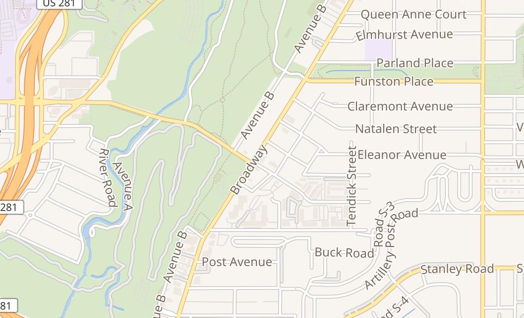 map of 3006 Broadway StSan Antonio, TX 78209