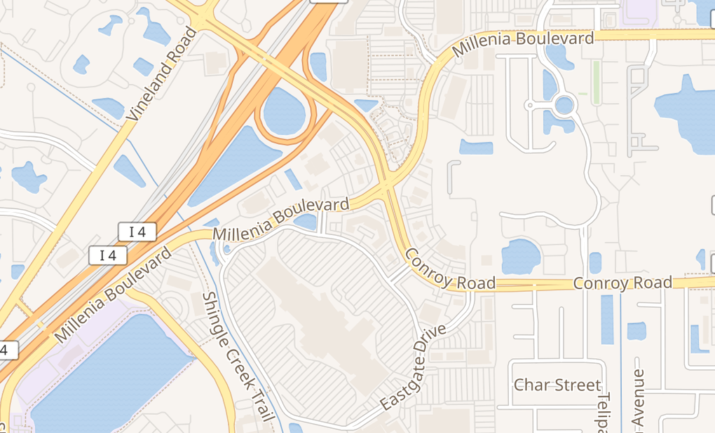 map of 4104 Millenia BlvdOrlando, FL 32839