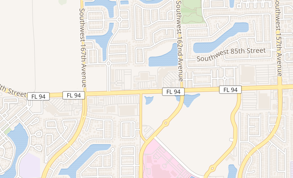 map of 16351 Sw 88Th StMiami, FL 33196