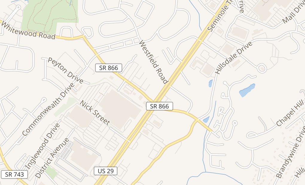 map of 1240B Seminole TrlCharlottesville, VA 22901