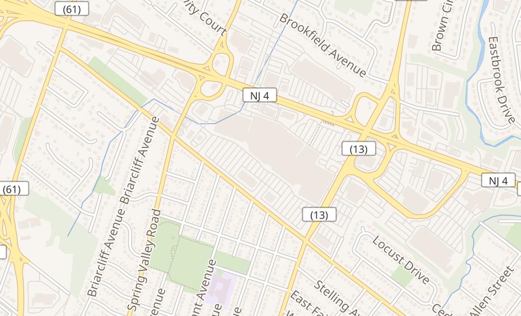 map of 2701 Bergen Town CtrParamus, NJ 07652