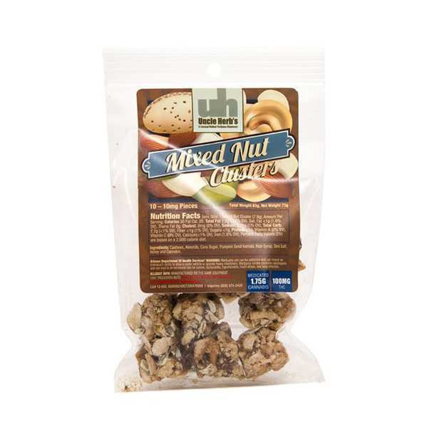 Mixed Nut Clusters 100mg - Uncle Herbs
