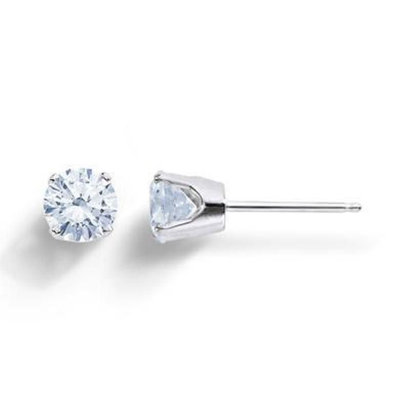cut grey shaped studs studio white cushion emerald a products no stud diamond gold point