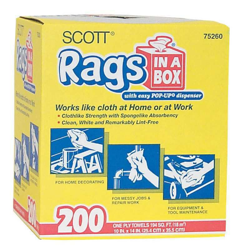 scott paper 10 by 13 inch rags in a box 75260 hamilton oh at rural king hamilton oh 53 - Box Of Rags