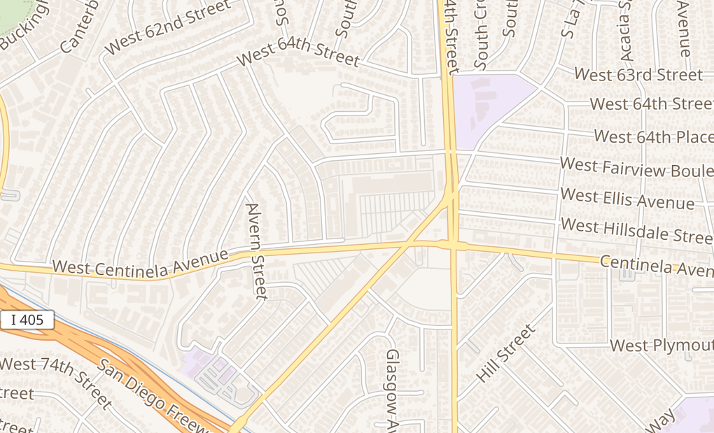 map of 5381 Centinela AveLos Angeles, CA 90045