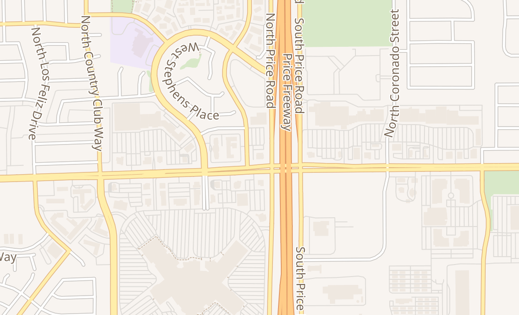 map of 3100 W Chandler Blvd Ste 2Chandler, AZ 85226