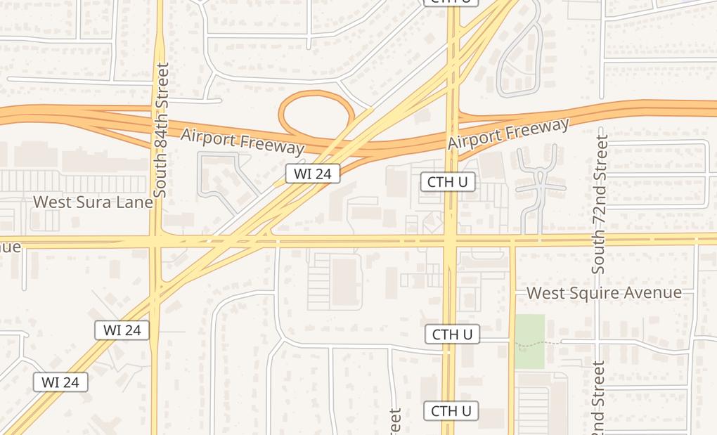 map of 7850 W Layton AveGreenfield, WI 53220