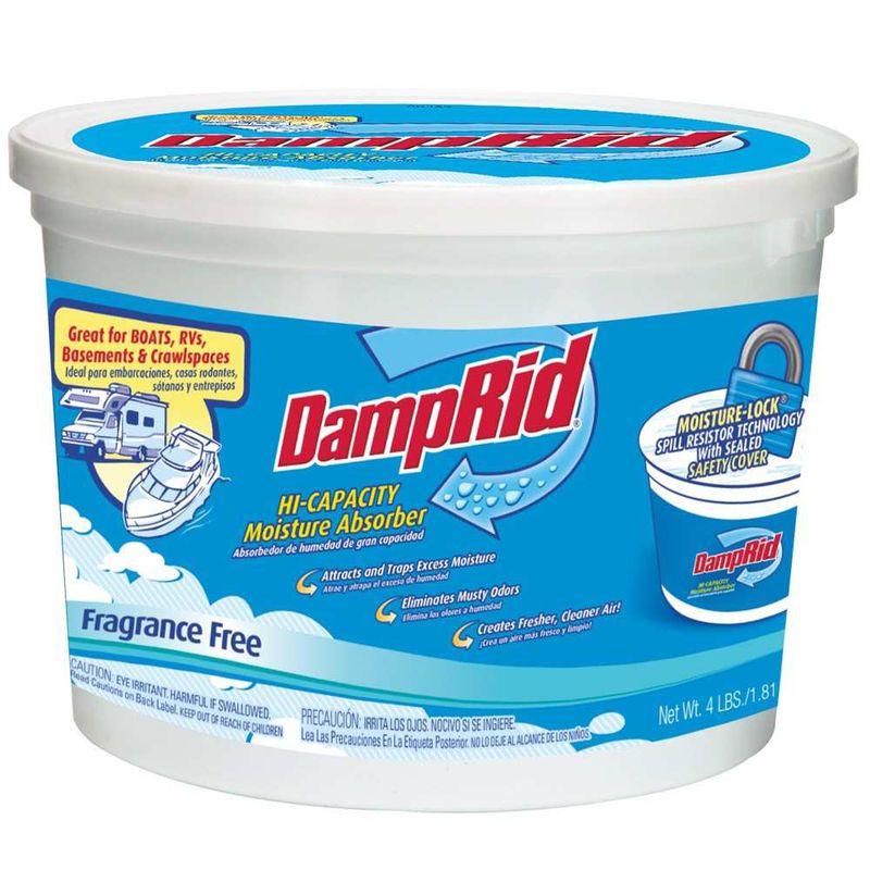 DampRid Hi-Capacity Fragrance Free Moisture Absorber, 4 lb. Tub ...