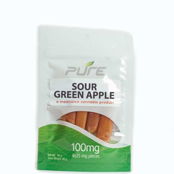 Sour Green Apple | 100mg - PURE